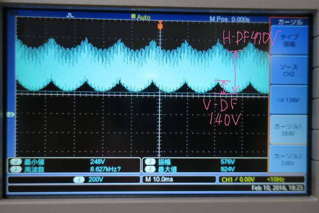 Image: EIZO T566 V-DF、H-DF調整