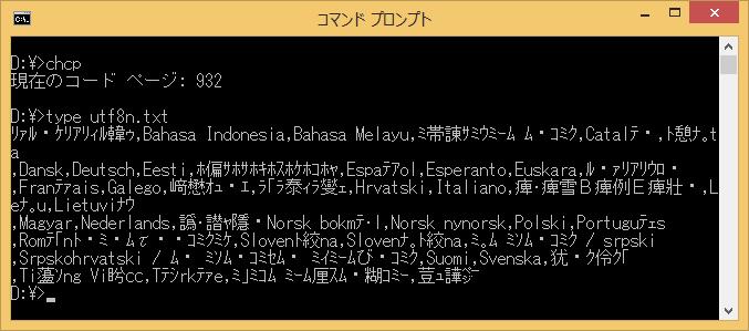 Image:CP932 UTF-8 output