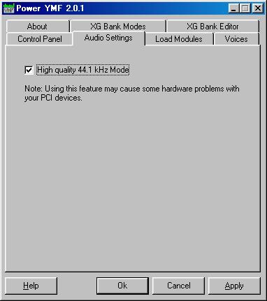 Image:Audio Settings - Power YMF