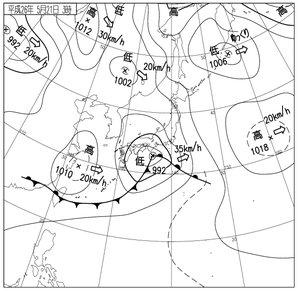Image: 140521 台風接近中のような荒れた天気