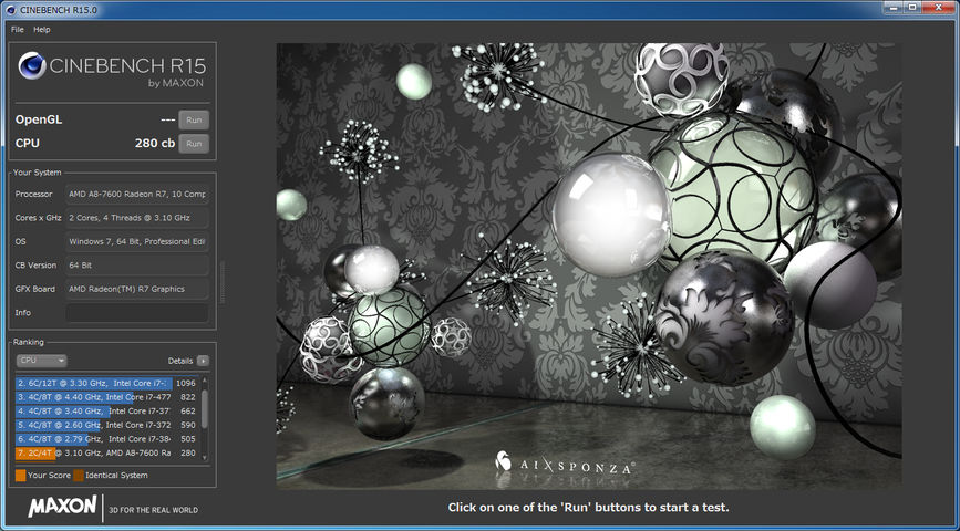 Image: A8 7600 CineBench R15