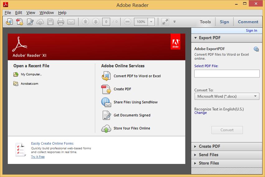 Image: Adobe Reader XIアップデート後に言語が英語になる