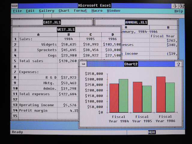 Image: MS Excel 2.0 SVGA