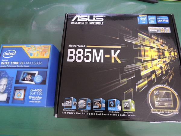 Image: 140815 Core i5-4460 + ASUS B85M-Kにアップグレードする