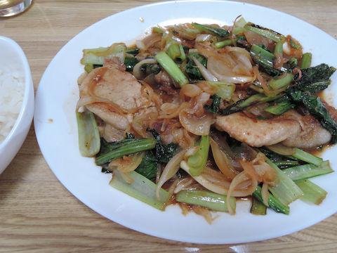 Image: 140922 小松菜と豚肉の味噌しょうが焼き