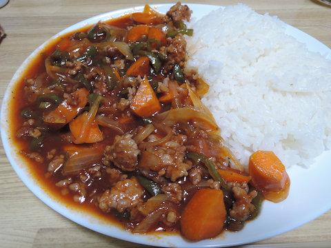 Image: 140925 ひき肉と野菜の酢豚風炒め
