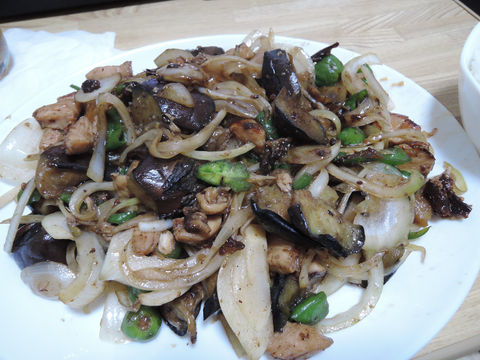 Image: 141013 鶏胸肉とナスの甘辛炒め