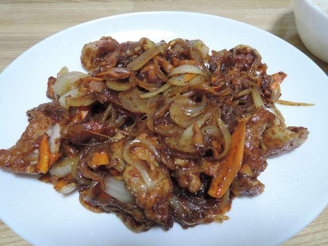 Image: 141019 豚肉とにんじんのカレー丼