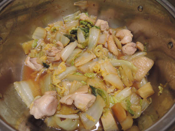 Image: 141102 鶏モモ肉 白菜煮込み