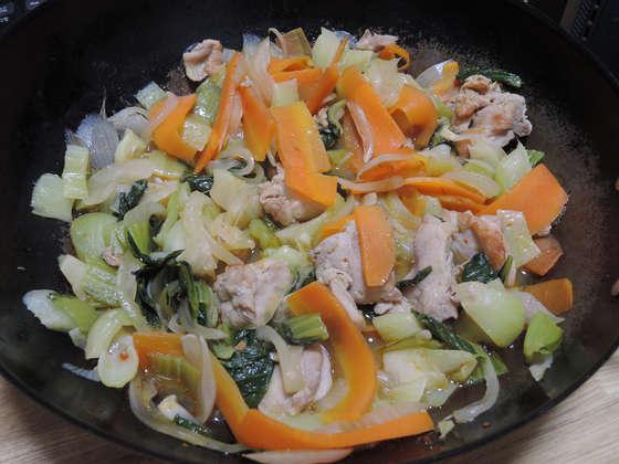 Image: 141106 チンゲン菜と鶏肉の四川風炒め
