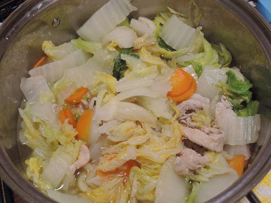 Image: 141113 白菜と豚肉の鍋煮 ポン酢和え