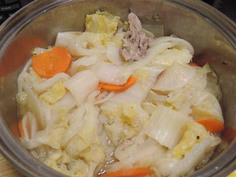 Image: 141119 白菜・大根・里芋のはさみ蒸し