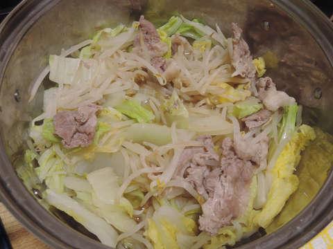 Image: 141126 白菜と豚肉ともやしのポン酢蒸し煮