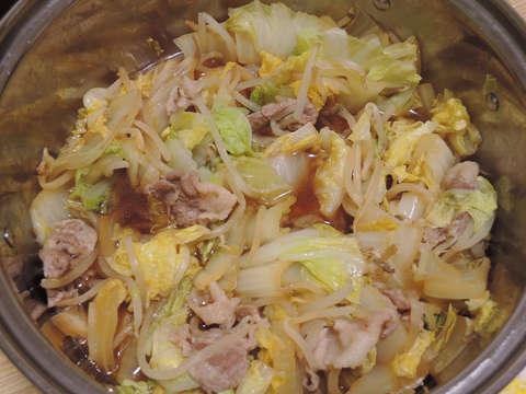 Image: 141127 白菜と豚肉ともやしのポン酢蒸し煮
