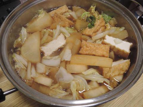 Image: 141208 白菜と大根と鶏もも肉スープ