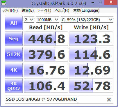 Image: PD13デフラグ前 - CrystalDiskMark