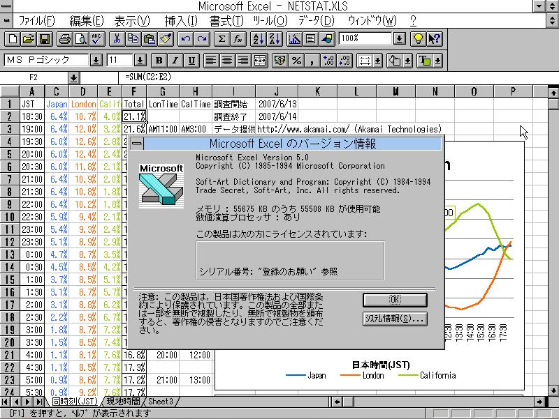 Image: Microsoft Excel 5.0