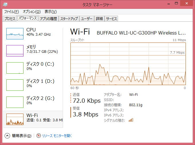 Image: WiMAX下り速度 - 富山大学RingServer