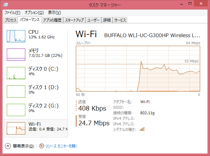 Image: 固定回線下り速度 - 富山大学RingServer