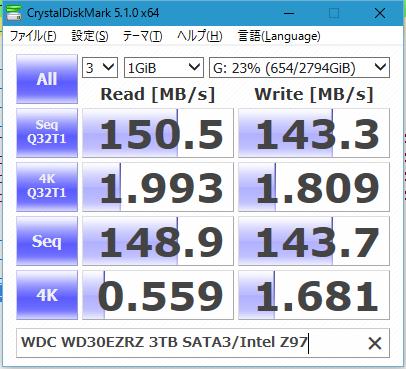 Image: CrystalDiskMark 5.1.0 WD30EZRZ 3TB