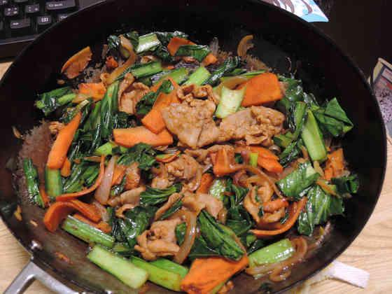 Image: 150126 小松菜と豚バラ肉の味噌炒め / 栄養成分について