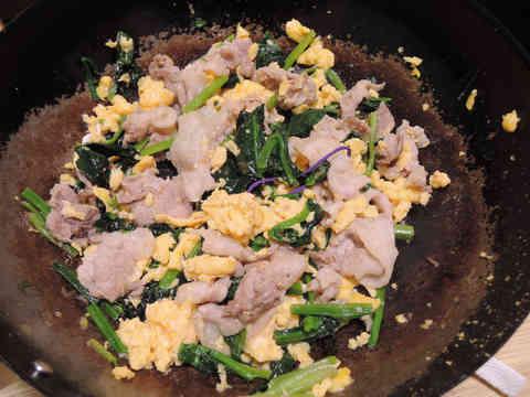 Image: 150203 ほうれん草と豚バラの卵炒め