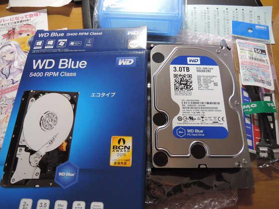 Image: Western Digital WD30EZRZ 購入直後ベンチマーク