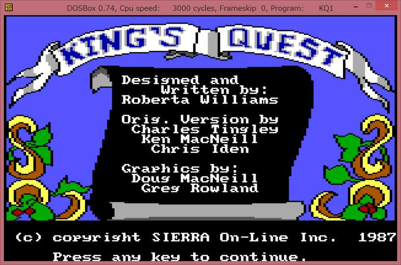 Image: opengl - DOSBox 0.74 KQ1
