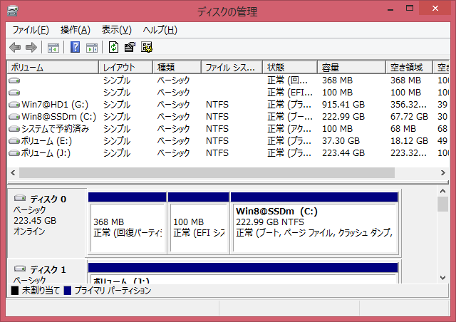 Image: ディスクの管理