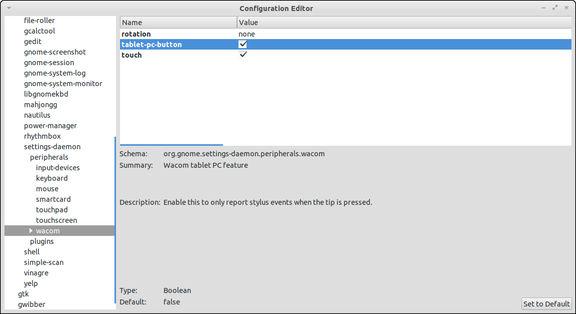 Configuration Editor - ubuntu