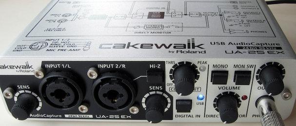 UA-25EX Front control panel