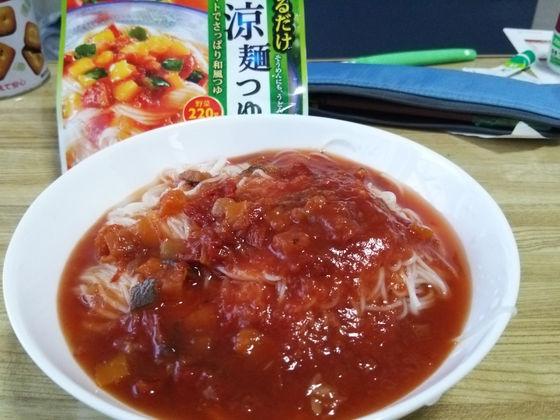 Image: 140816 そうめん+カゴメサラダ涼麺つゆ[cook]