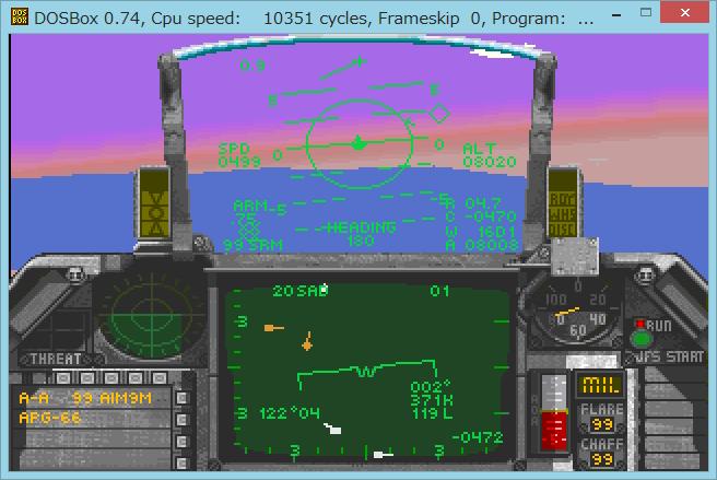 Image: 海外DOSゲーム FALCON 3.0 をプレイ