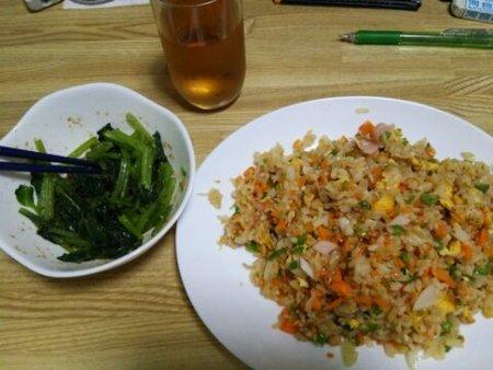 Image: 140805 ハムチャーハン/小松菜すりごま和え [cook]
