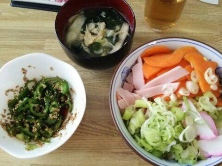 Image: 140808 札幌ざるラーメン/玉子の中華スープ [cook]