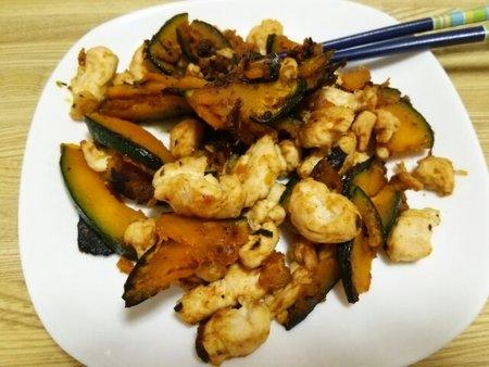 Image: 140908 カボチャとささみの炒め煮 [cook]