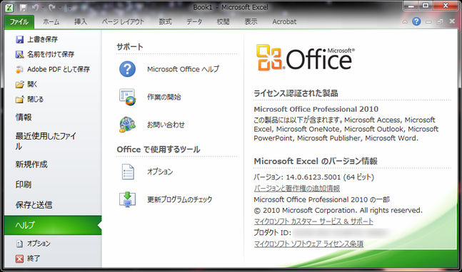 Microsoft Excel 2010(Office Professional 2010)