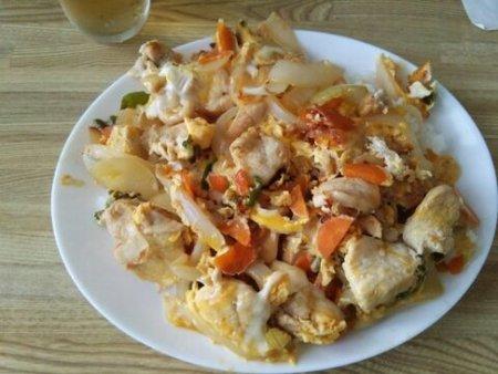 Image: 140818 鶏むね肉の卵とじ [cook]