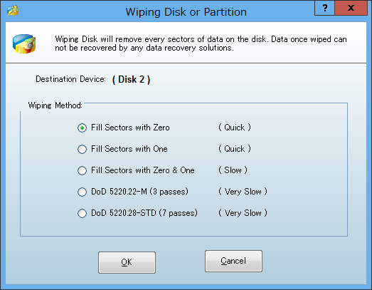 Image: Wiping Disk and Partition