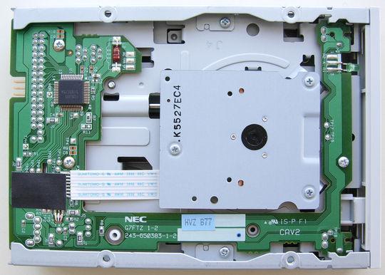 NEC 3.5-inch floppy disk drive - bottom
