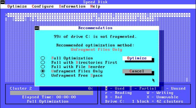 Norton Utilities 7.0 Speed Disk