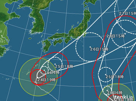 Image: 20131024 台風27号直撃は免れそう