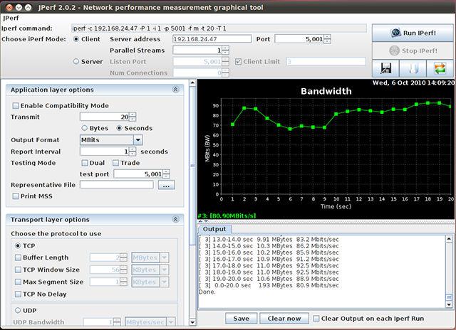 jPerfを用いた通信速度測定