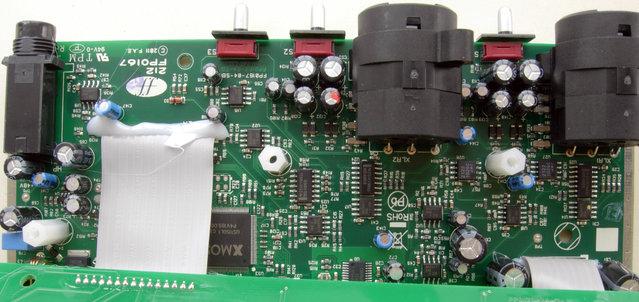 Scarlett 2i2 PCB front side