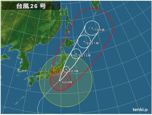 Image: 20131016 台風接近 / 風の音で目が覚める