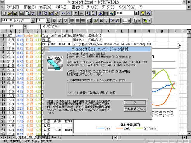 Image: Microsoft Excel 5.0をアップデートする [Win3.1]