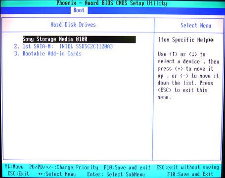 Image: Phoenix Award BIOS CMOS Setup Utility - Boot