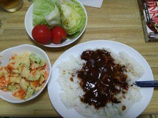 Image: 140802 コクデミカレー/ポテトサラダ [cook]
