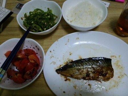 Image: 140727 サバ生姜漬け、ピーマンゴマ和え、トマトゆかり和え [cook]