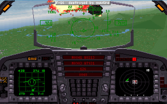 Image: F-15 Strike Eagle III Game screen